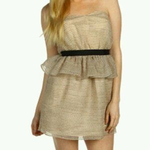 NWT- Shimmer Strapless Woven Embellished detailed